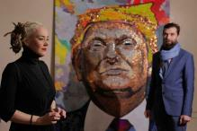 After Putin-In-Bullets, Exiled Ukrainian Artists Create Trump Portrait Using Coins and Poker Chips