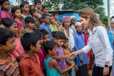 Queen Rania of Jordan Meets Rohingya Muslims