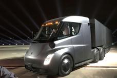 Elon Musk Unveils Tesla's Electric Semi Truck