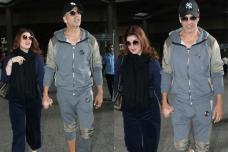 Airport Sightings: Akshay Kumar, Twinkle Khanna Return From US