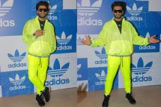 Ranveer Singh Wows In Neon Dress At Adidas Store Launch