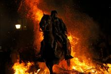 Saint Anthony Bonfire Festival in Spain; See Pictures