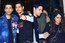 Sidharth Malhotra Celebrates his Birthday with Karan & Friends