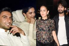 Deepika, Ranveer & Shahid Kapoor at 'Padmaavat' Special Screening