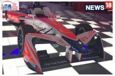 Auto Expo 2018: First Look of Mahindra Formula E Racecar