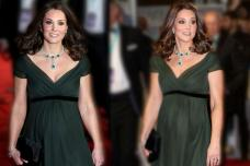 Kate Middleton Shows Off her Baby Bump at BAFTAs 2018