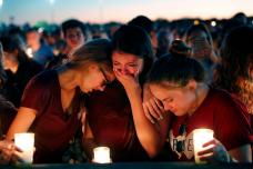 In Pictures: Candle-light Vigil for Parkland Shooting Victims
