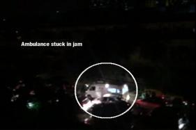 Watch: Ambulance Stuck in Traffic Jam in Gurgaon