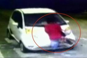 Watch: CCTV Visuals Show Car Driver Dragging Toll Plaza Employee