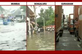 Watch: Mumbai, Gurugram, Bengaluru Deluged by Heavy Rains