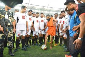 Bend It Like Baba Ramdev: Twitter Loses It Over The Yogi's Soccer Skills