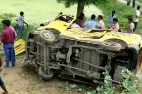 School Van Hit by Train at Bhadohi Crossing in UP, 7 Children Dead