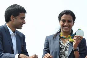 PV Sindhu Arrives in Vijayawada to a Rousing Reception