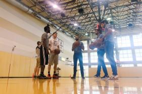 Team India in USA: Dhawan, Bhuvneshwar, Ashwin Play Basketball With NBA Stars