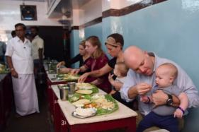Madras Day : US Consulate Members Enjoy A Meal Served On Banana Leaf