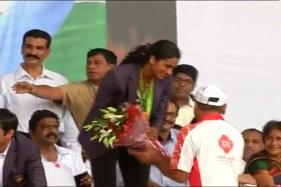 PV Sindhu, Pullela Gopichand Felicitated on Return to India