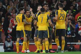 Theo Walcott Nets Twice as Rampant Arsenal Down Basel 2-0