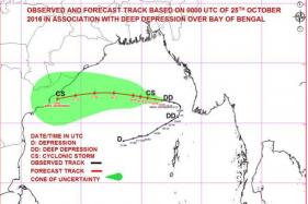 Deep Depression in Bay of Bengal Intensified Into Cyclone Kyant
