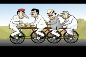 Breaking Toon: Samajwadi Party Cycles Gets Punctured