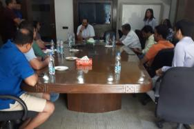 Parents of Children Molested in Playschool Meet RS MP Rajeev Chandrashekar