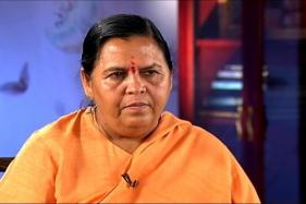 After Being Denied Entry, Uma Bharti Stages Dharna Outside Mahakaal Temple