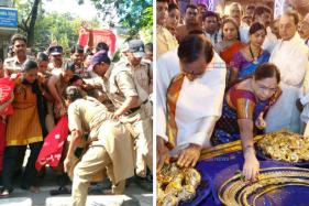 KCR Seeks Blessings With Public Funds, former comrades Protest 'Bad' Governance
