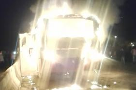 1 Killed, 4 Injured as KSRTC Bus Catches Fire