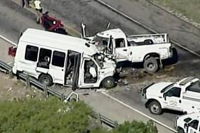 12 Killed, 3 Injured in Church Bus-Truck Crash in Texas