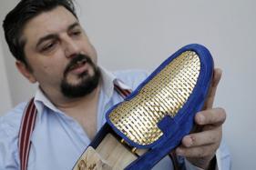 Gilt-y Pleasure: Italian Artisan Crafts 24-Carat Gold Shoes