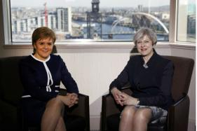 Britain's May Meets Sturgeon After Blocking New Independence Bid