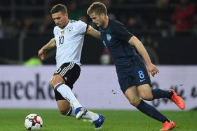 Podolski Hits Germany Winner Against England to Sign Off in Style