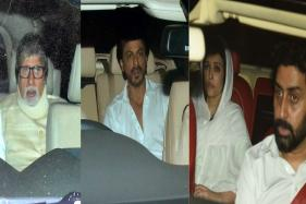 Big B, SRK Leave For Aishwarya's Father's Funeral