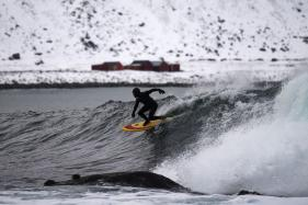 Surfing: Pushing The Limit Riding Norway's Frozen Waves