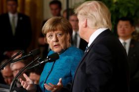 Awkward Start and Odd End to First Trump-Merkel Meet