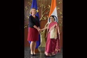 EU Foreign Policy Chief Holds Talks With Sushma Swaraj
