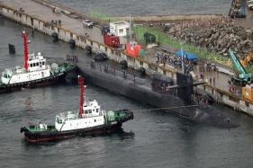 N Korea Stages Large-scale Artillery Drill as US Submarine Docks in South