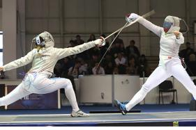 India's C.A Bhavani Wins Gold in Fencing