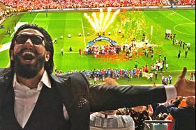Ranveer Singh Cheers for Arsenal in FA Cup Final