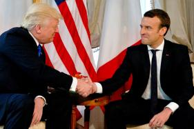 French President Macron Does a 'Trump Handshake' on Donald Trump