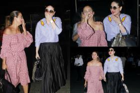 These Photos Of Kareena Kapoor, Amrita Arora Giggling At The Airport Have Got Us Curious