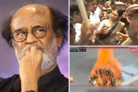 Rajinikanth's Effigy Burnt in Chennai During Protests Against 'Political Entry'