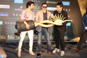 IIFA 2017: Varun Dhawan, Saif Ali Khan and Karan Johar at Press Conference