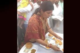 UP Minister Swati Singh Distributes Rs 100 Along with 'Prasad'