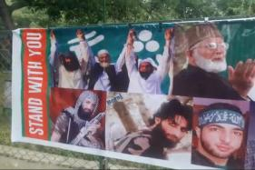 Eid Posters in South Kashmir Feature Hafiz Saeed And Burhan Wani