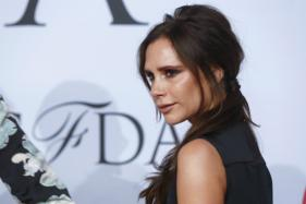 Victoria Beckham Flaunts Leather Trousers In London Heat Wave