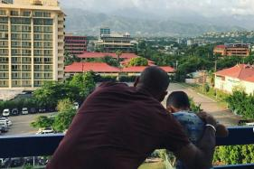 Shikhar Dhawan Spends Quality Time with Son
