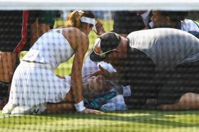 Wimbledon 2017: Mattek-Sands Suffers Horror Knee Injury