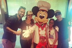 Shikhar Dhawan Having a Ball With Family in Disneyland