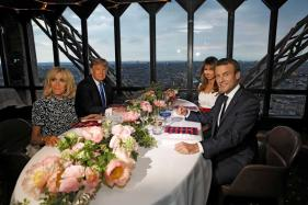 You're in 'Such Good Shape', Trump tells French President Macron's Wife