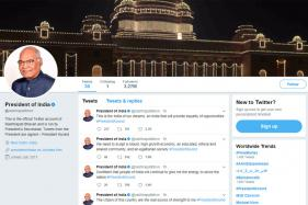 Kovind Takes Over Presidential Twitter Handle